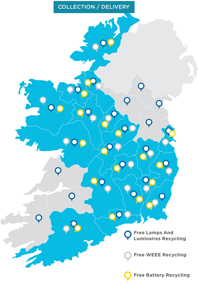 Empty Map Of Ireland.Collections Deliveries Weee Ireland